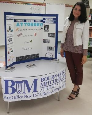 Attorney Maria Bournakis Participates in School Career Day